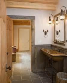 Ski resort lodge rustic bathroom burlington by habitat post