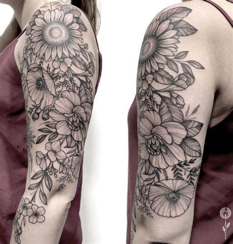black and gray tattoos 60 black gray flower tattoos by bravo list inspire