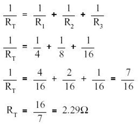 parallel resistor total resistance resistance in parallel