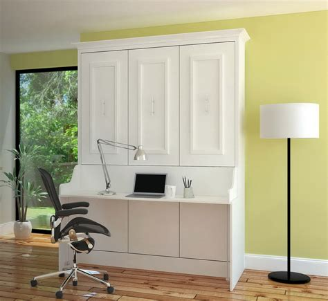 murphy bed with desk gabriella full murphy bed with desk white mdh modern
