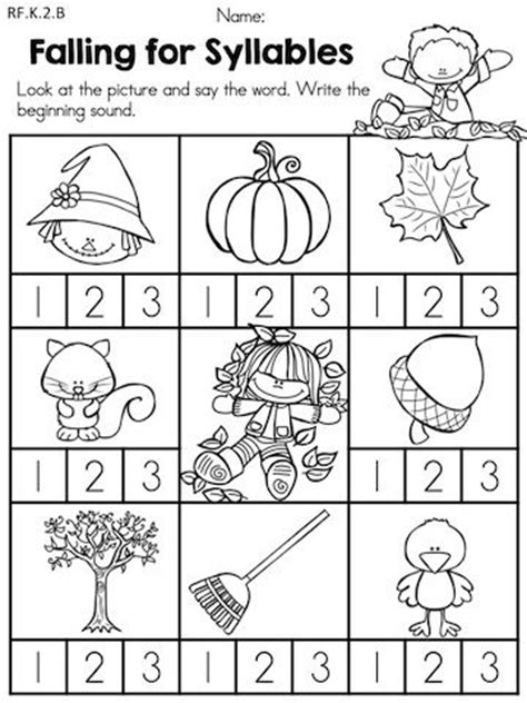 Kindergarten Language Arts Worksheets by Best 25 Syllables Kindergarten Ideas On