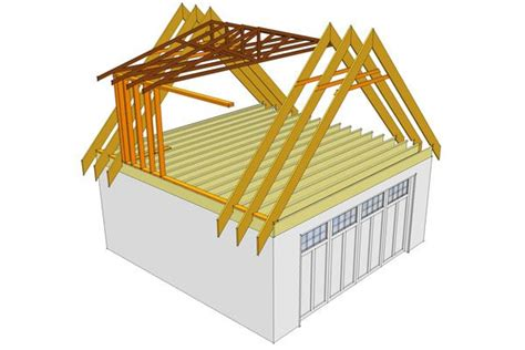 loading on ceiling joists conventional framed roof gable attic ideas trusses in the dormer area stick