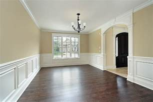 dining room with custom wainscoting