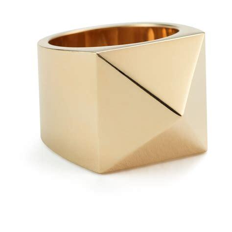 Pyramid Ring lena wald large gold pyramid ring goop goop shop