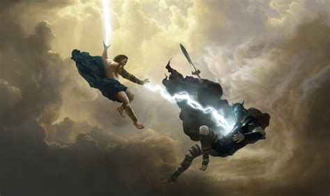 along with the gods houston wonder woman zeus slays ares by houstonsharp on deviantart