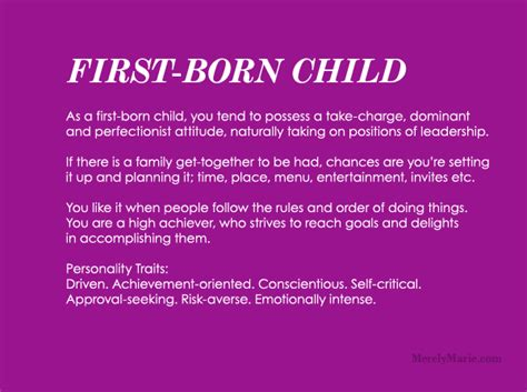 born with characteristics discover your birth order personality first child
