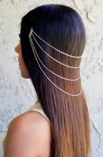 hair chains the lara silver hair chain jewelry barrette by