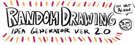 drawing ideas generator sketches randraw random drawing generator random drawing idea generator psuedofolio
