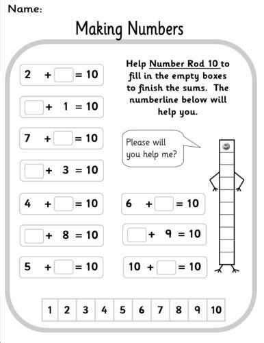 eyfs ks1 sen number bonds powerpoint worksheets
