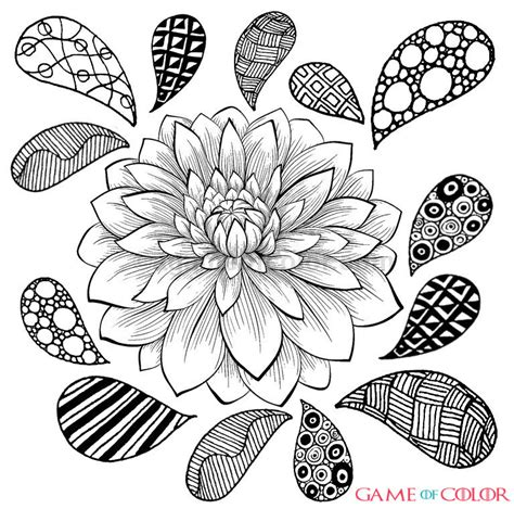 intricate floral coloring pages flower 40 coloring kids
