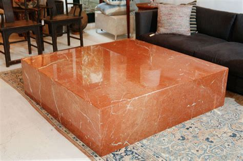 large marble coffee table very large terracotta marble square coffee table at 1stdibs