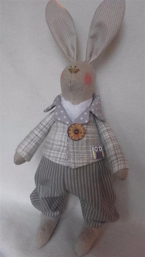 Handmade Rabbit - handmade tilda bunny textile doll fabric rabbit hare 163 20