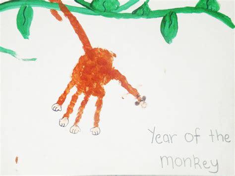 new year monkey handprint handprint monkey aussie childcare network