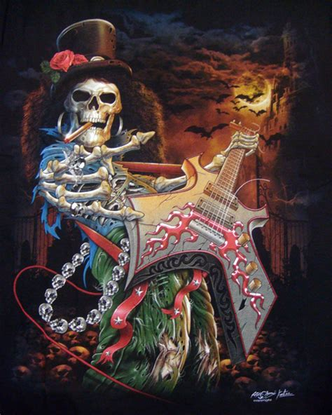 skeleton bass guitar t shirt t shirts mens tattoo