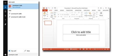 design powerpoint windows open powerpoint 2013 in safe mode on windows 10
