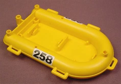 yellow zodiac boat playmobil yellow inflatable rescue boat or raft with a