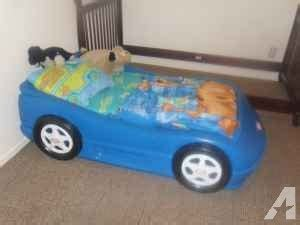 little tikes blue car bed blue little tikes boys car bed and mattress fort drum