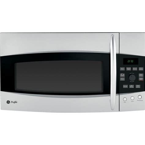 ge profile microwave ge profile pvm2170srss profile series 2 1 cu ft the range microwave sensor oven