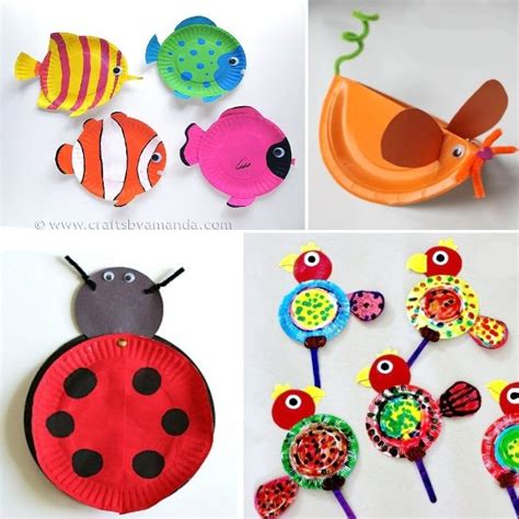 Animal Paper Craft - animal paper plate crafts paper plate animals for