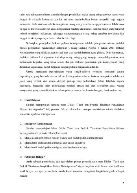 Hukum Keimigrasian Bagi Orang Asing Di Indonesia tindakan penyidikan pidana keimigrasian