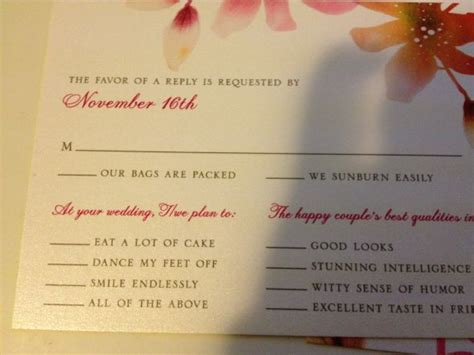 humorous wedding response cards our invitation rsvp card weddingbee