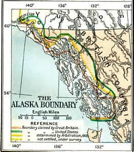 map of canada and alaska border the alaskan boundary dispute
