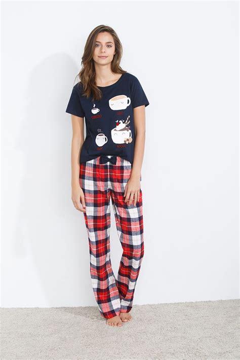 Pijama Snoopy Happy secret be happy pijama largo de cuadros en