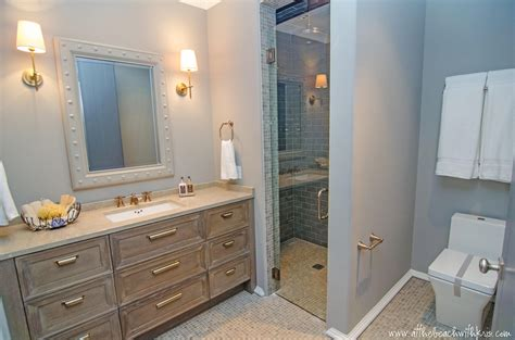 house bathroom at the beach with kris beach investment flipping remodeling