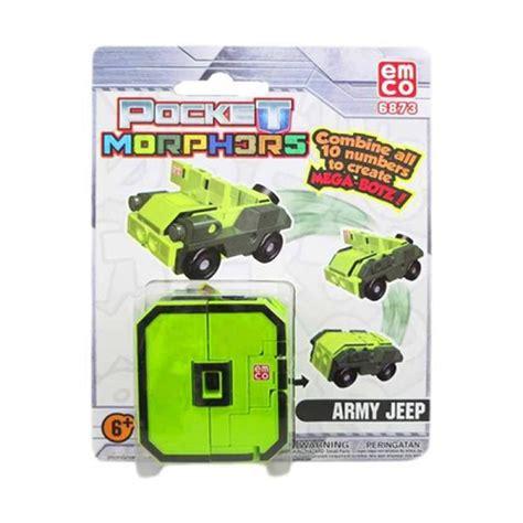 Pocket Emco jual emco pocket morphers army jeep number 0 6873 original