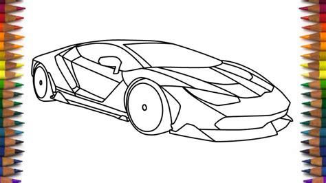 lamborghini car drawing how to draw lamborghini centenario easy car drawing