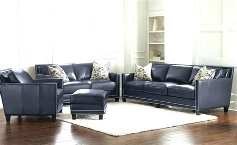blue leather sofa set best house luxury