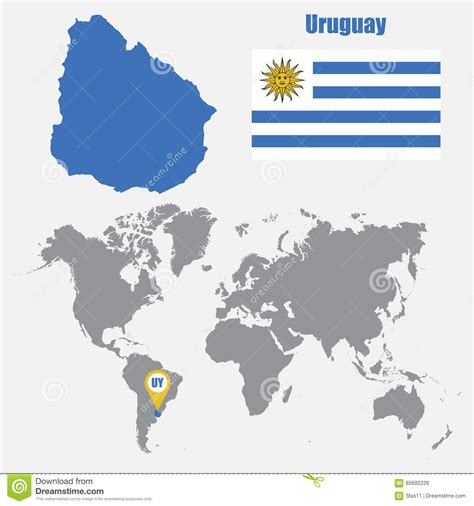 uruguay on a world map 2 uruguay map on a world map with flag and map pointer