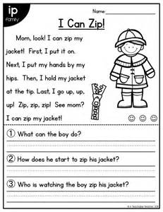 1st grade reading comprehension short stories short story