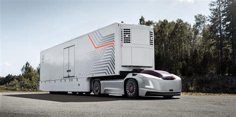 volvo unveils  electric  autonomous truck   cab electrek