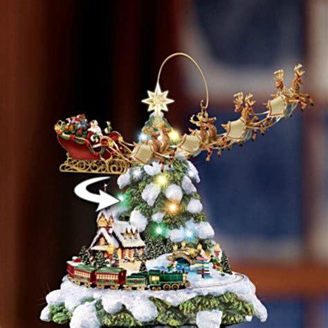 thomas kinkade tabletop trees christmas wreaths