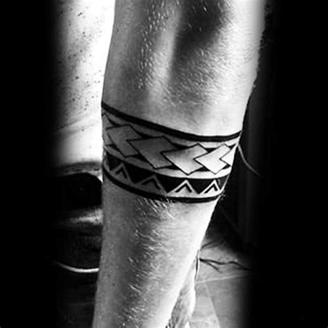 50 forearm band tattoos for masculine design ideas