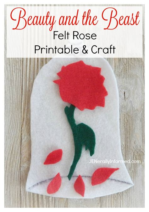 beauty and the beast inspired recipes crafts with beauty and the beast felt rose printable and craft