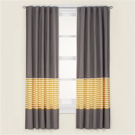 Yellow And Grey Window Curtains Not A Peep Curtain Panels Yellow Contemporary Curtains By The Land Of Nod