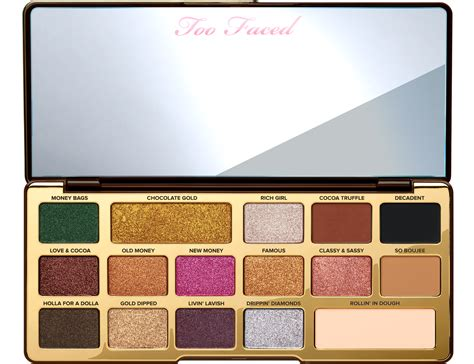 Chocolate And Palette chocolate gold eye shadow palette faced