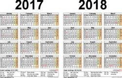 Germany Calendã 2018 Two Year Calendars For 2017 2018 Uk For Pdf