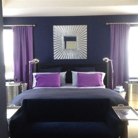 purple master bedrooms purple and navy master bedroom master bedroom