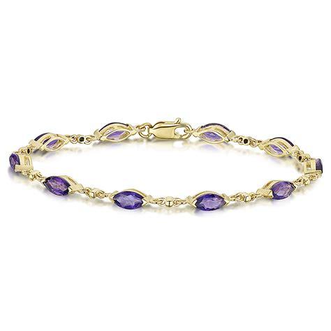 9ct yellow gold amethyst bracelet 9ct gold bracelets at