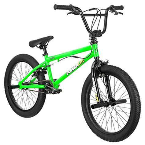 motocross bmx bikes powerlite brawler 20 inch freestyle bicycle neon green