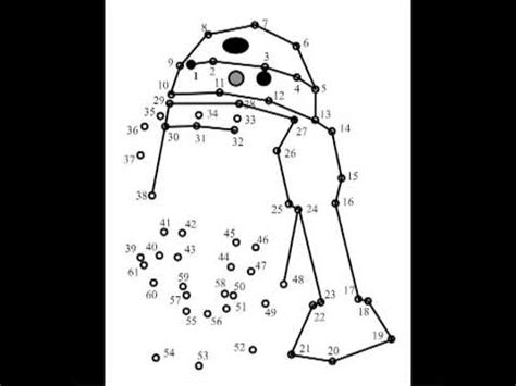 printable dot to dot star wars r2 d2 join the dots youtube