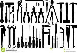 Free Downloadable House Plans by Tools Silhouette 1 Vector Stock Images Image 10144314