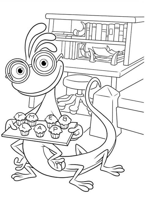 monster inc university coloring pages coloring home