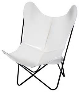 fauteuil aa butterfly cuir blanc moderne chaise