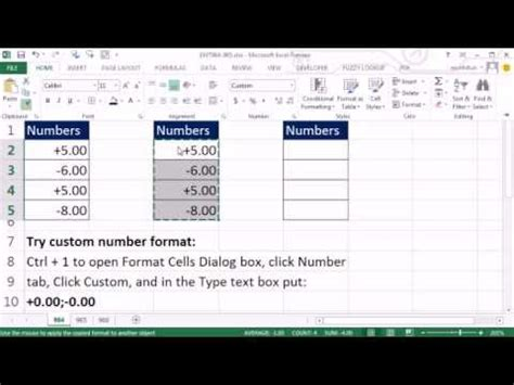 format excel plus sign excel magic trick 964 custom number format show positive