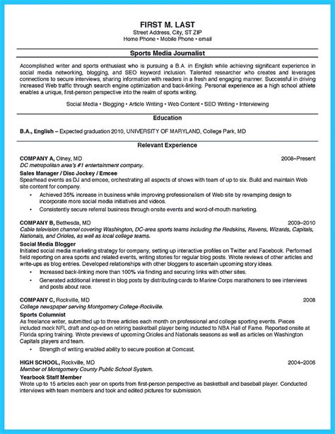 College Internship Resume