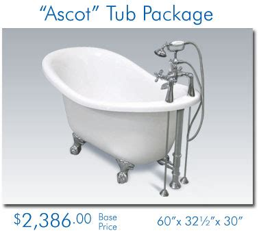 bathtub deals the bath spot clawfoot tub packages
